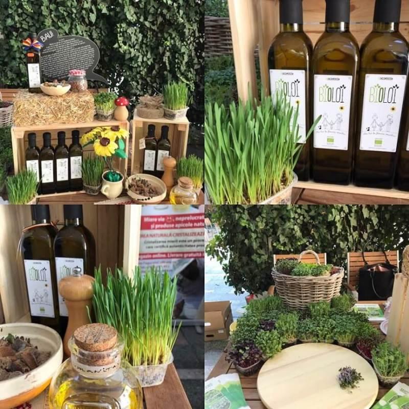 Ulei presat la rece din floarea soarelui BIOLOI, ulei organic din seminte romanesti