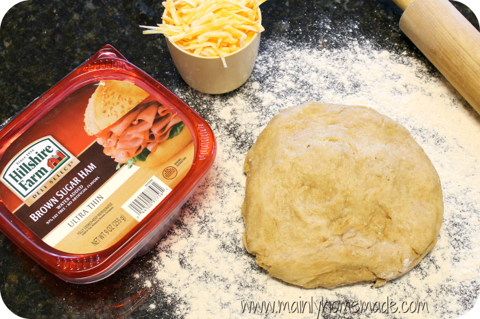 Ham and Cheese Pinwheel dough