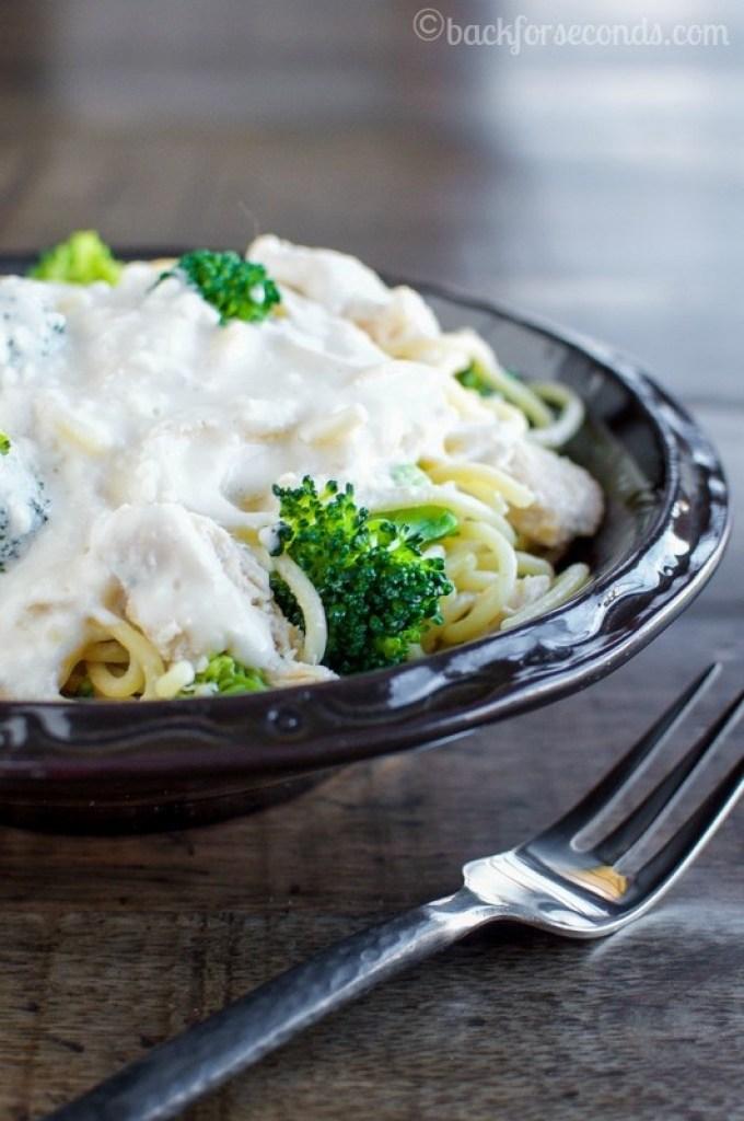 Chicken Broccoli Pasta in Healthy Creamy Sauce - Ready in 20 minutes!