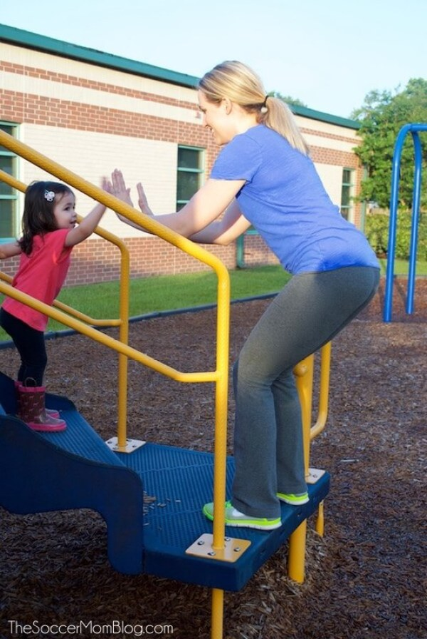 You CAN find time as a busy mom for exercise! Beat boredom and teach your children positive habits with this fun playground workout for all fitness levels!