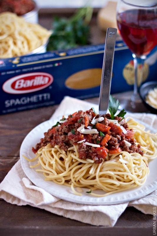 Barilla® Spaghetti with San Marzano Tomato Meat Sauce | URBAN BAKES