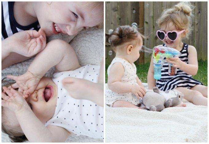 Kids backyard picnic