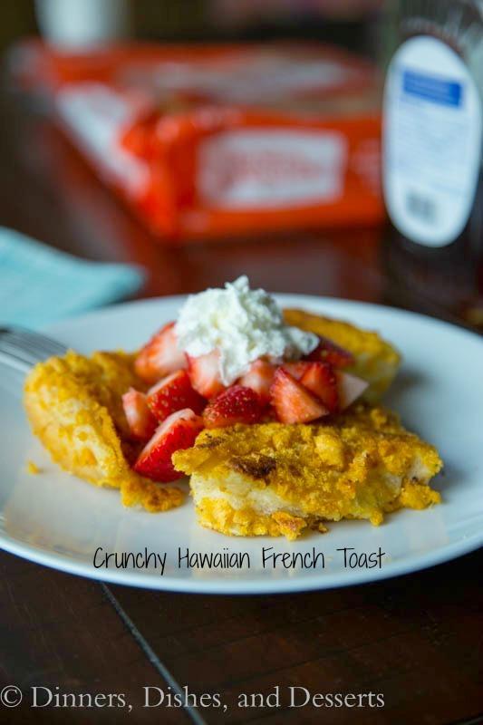 crunchy hawaiian french toast on a plate