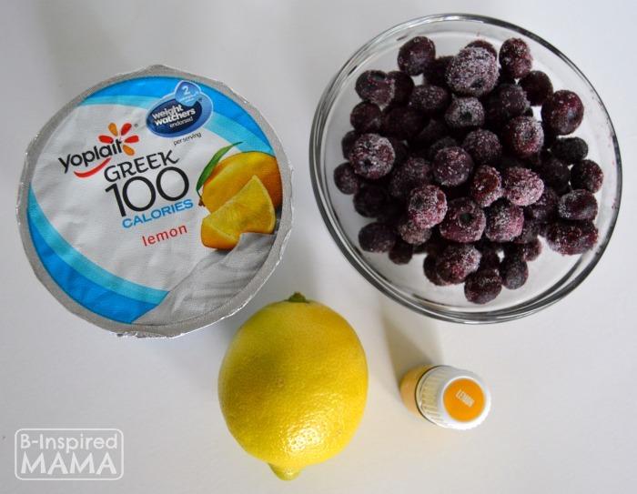 Simple Blueberry Lemonade Smoothie Recipe - Ingredients - B-Inspired Mama