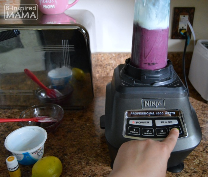 Simple Blueberry Lemonade Smoothie Recipe - Blending It Up - B-Inspired Mama