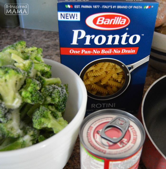 3-Ingredient One-Pot Broccoli Cheese Pasta Recipe - with Barilla Pronto Pasta - at B-Inspired Mama