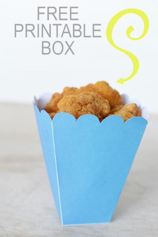 popcorn chicken box