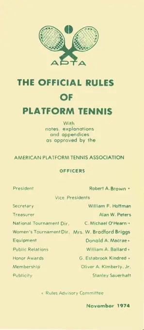 platform tennis rules