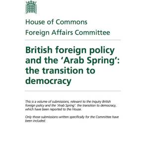"Submission on Libya to the Foreign Affairs Committee enquiry: ""British foreign policy and the 'Arab Spring': the transition to democracy"""