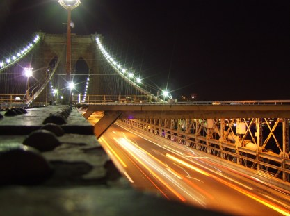Brooklyn Bridge at Night, close by to the courthouse where Shell is due to stand trial
