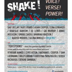Shake! Showcase #2 Voice! Verse! & Power!