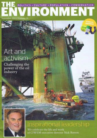 CIWEM's magazine 'The Environment', Sept 2013, featuring obituary to Nick and 2 articles by Platform.