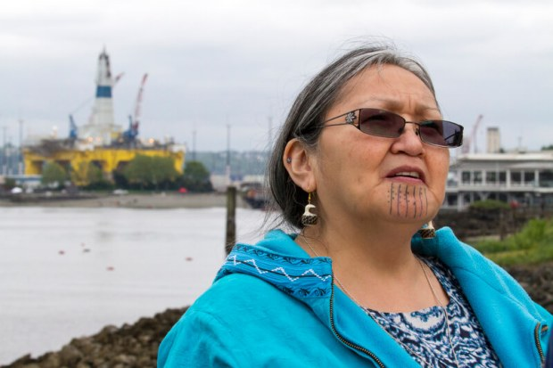 Mae Hank of REDOIL - central to the campaign that stopped Shell's driling