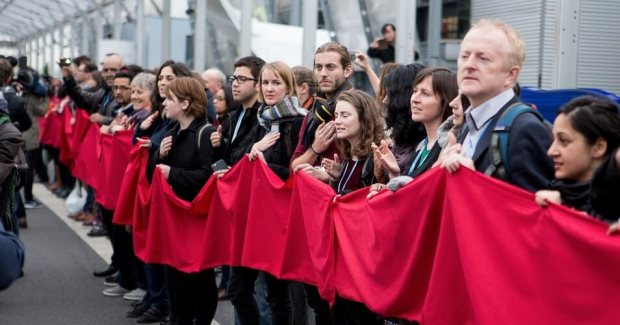 Red Lines demonstration at COP21 in Paris
