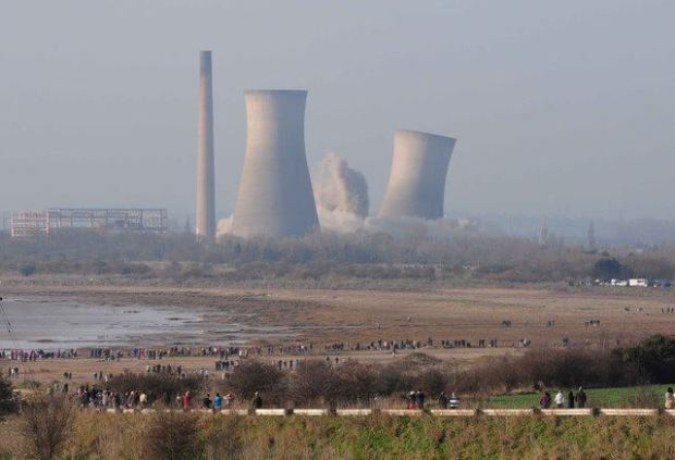 Richborough Power Station, demolished 2012