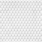 White Glossy Penny Round