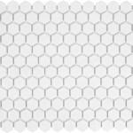 "White Matte Hexagon 1"""