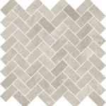 Limestone Taupe Herringbone Mosaic