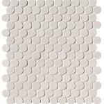 Bianco Round Mosaico Matt