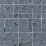 Bloom Metal Blue Silver Mosaico