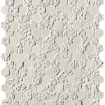 Bloom White Print Esagono Mosaico
