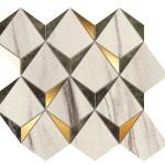 Marvel Bianco-Green Mosaico Diamonds WALL