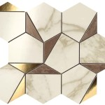 Marvel Gold Hex Brown-Calacatta WALL