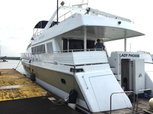 Lucury yacht in Malaysia Lady Phobe