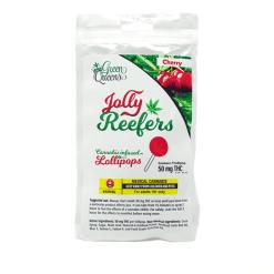 Jolly Reefers Cherry Lollipops THC (50mg) Buy Online Canada