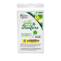 Jolly Reefers Green Apple Lollipops THC (50mg) Buy Online Canada