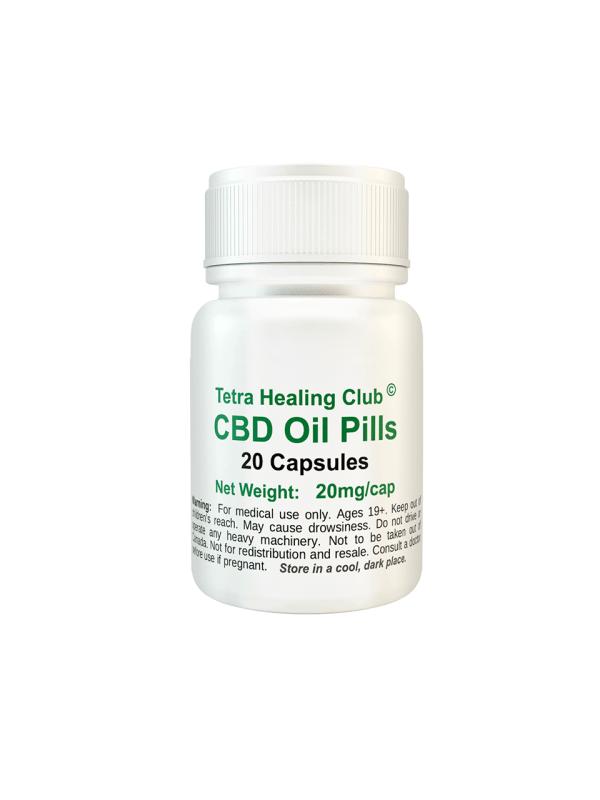 Tetra Healing Club - CBD Pills x 20 Buy Online Canada
