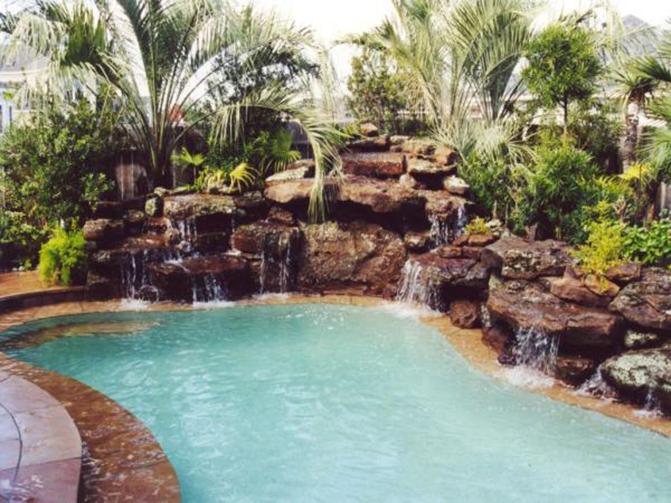 Flagstone Prices Houston. swimming pool waterfalls pool rock ...