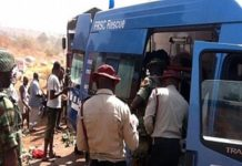 Resent Road-accident scene