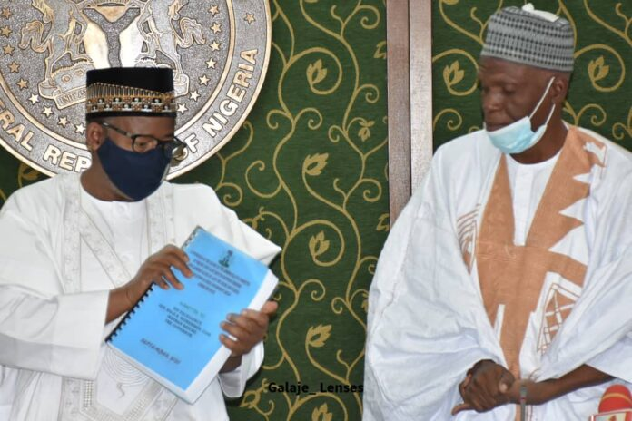 Bauchi Governor, Bala Mohammed receiving the report of farmer, herders clash
