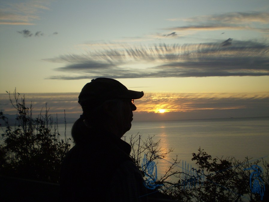 Ken Osthimer at sunset
