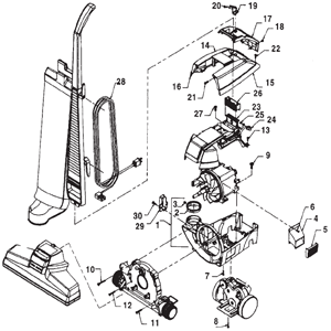 Kirby Generation 4 Vacuum Body Schematic