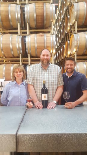 Hangin' with friends from 3 Wine. Owner Erin Cline, GM Matt McCollough
