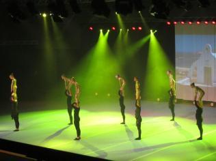 Höganäs Gymnastikförenings Julshow, lyftnumret