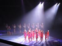 show, gymnastik, ljusshow