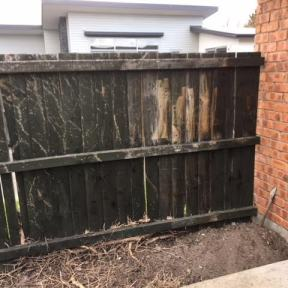 3) Old worn fence