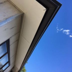 Soffit: Sanded-painted and looking like new