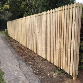 4) New (Gothic style) Fence Build