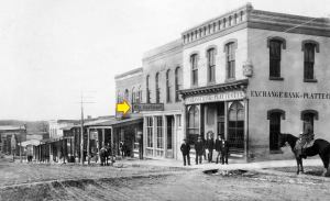 The Platte County Landmark Newspaper Office in 1865