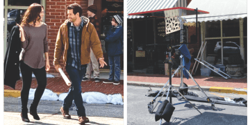 Actors in downtown Weston