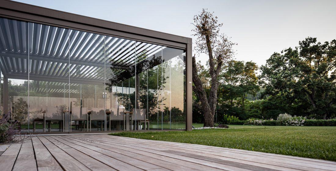 contemporary pergolas garden rooms
