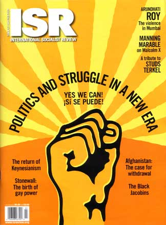 Cover of the International Socialist Review on January 2009