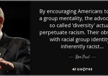 ron paul that diversity maintains racism