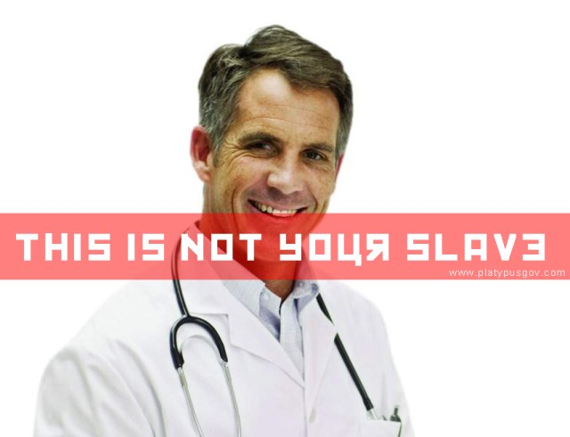 This is not your slave