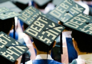 Students with debt on caps