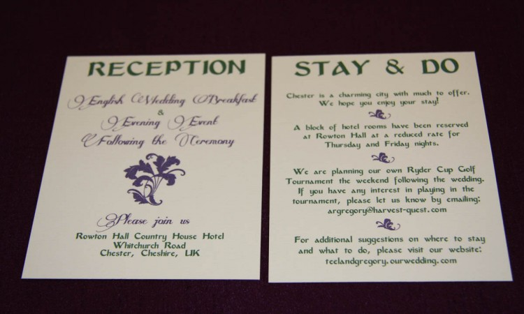 Elegant Wedding Invitation Inclusions 2 By Platypus Papers
